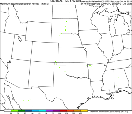 Accumulated maximum updraft helicity in 2–5-km layer (full domain) (click image for animation)