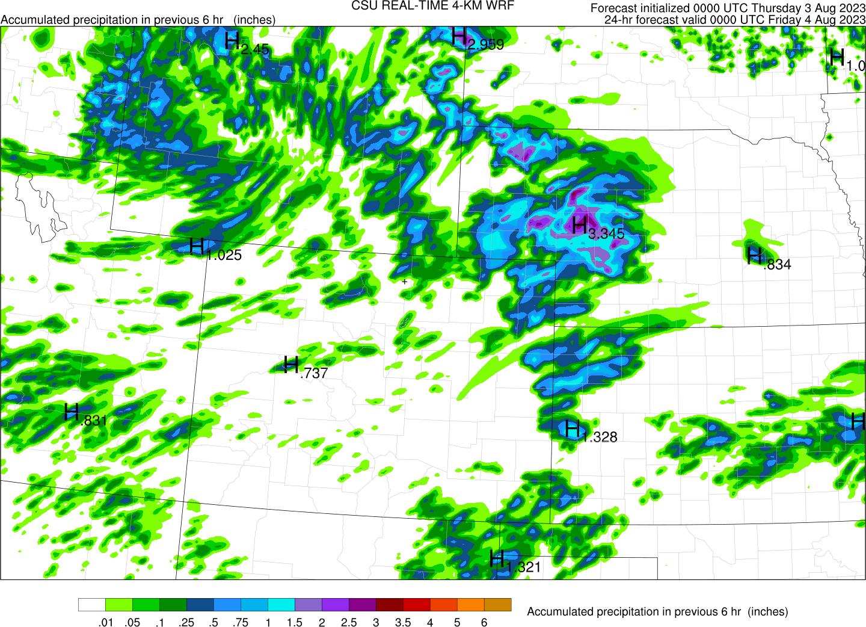 CSU 4-km WRF model forecasts » Precipitation Systems